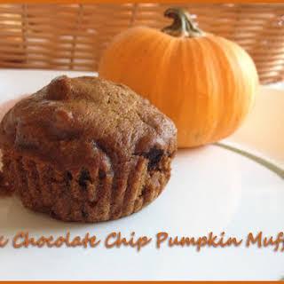 Dark Chocolate Chip Pumpkin Muffins.