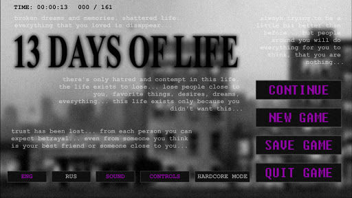 13 DAYS OF LIFE Games for Android screenshot