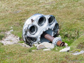 Photo: Engine from Canberra WJ615 on Carn an t-Sagairt Mor, which crashed 22 Nov 1956