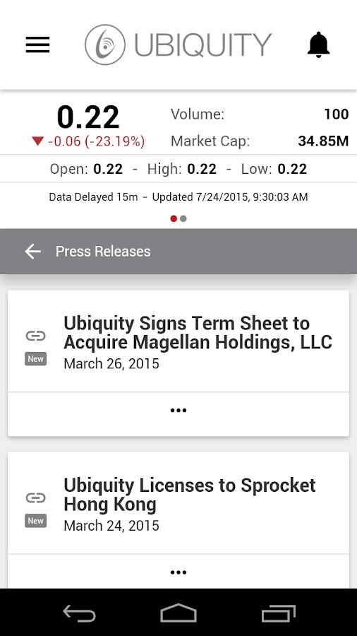 Ubiquity IR- screenshot
