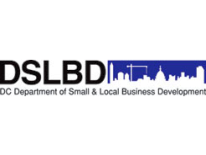 text Department of Small and Local Business Development (DSLBD) and cityscape