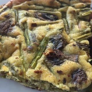 Italian Asparagus and Mushroom Frittata.