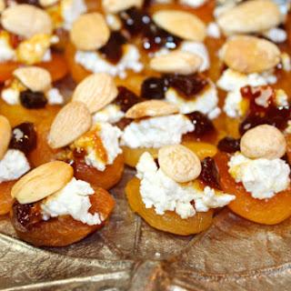 Marcona Ricotta Apricot Appetizer Bites.