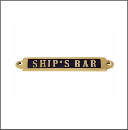 Mässingsskylt - Ship's Bar