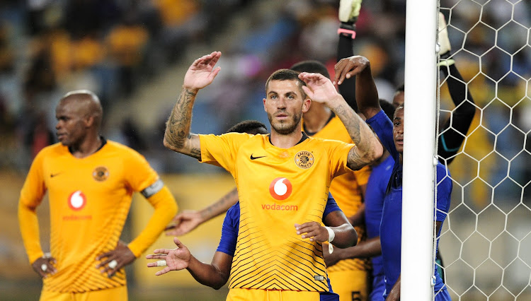 Daniel Cardoso of Kaizer Chiefs FC during the CAF Confederations Cup 2018/19 game between Kaizer Chiefs and Elgeco Plus at Moses Mabhida Stadium, Durban on 15 December 2018.