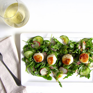 Citrus Arugula Salad with Seared Scallops