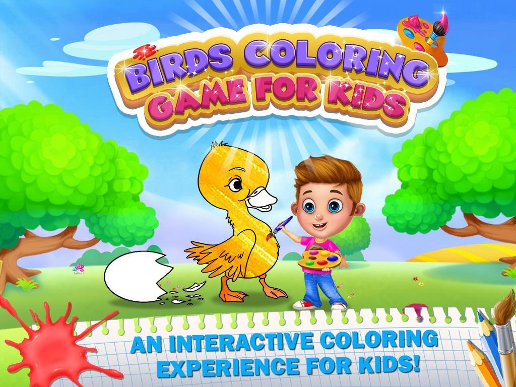 birds coloring game for kids coloring pages android apps on