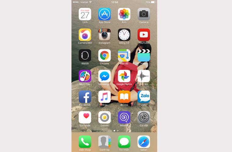 Từ màn hình Home trên iPhone hay iPad bạn vào App Store