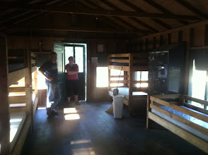 Photo: Another view of the inside of a Juniors cabin, this time from the back looking to the door.