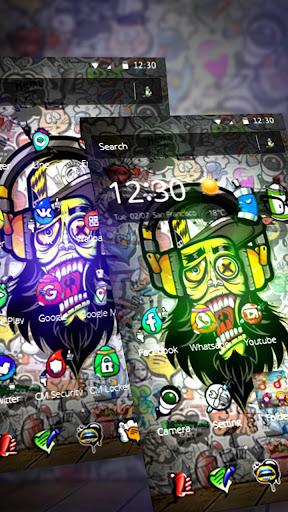 Graffiti Music Skull Theme screenshots 2
