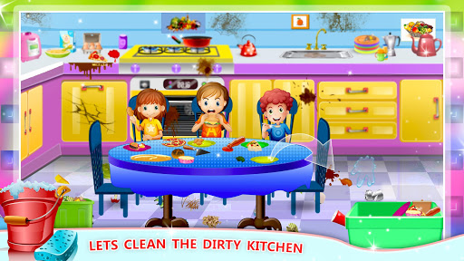 Elsa Home Cleaning Gamesu2013 Garage Dust Clean Up- apktram screenshots 4