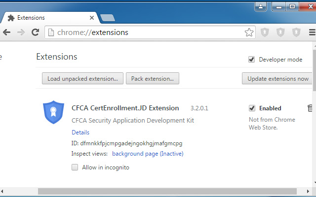 CFCA CertEnrollment.JD Extension