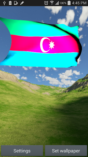Azerbaijan Flag Live Wallpaper