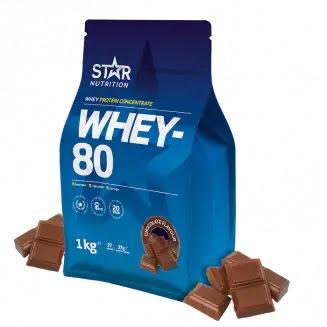 Star Nutrition Whey 80 1kg - Chocolate