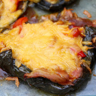 Enchilada Stuffed Poblano Peppers.