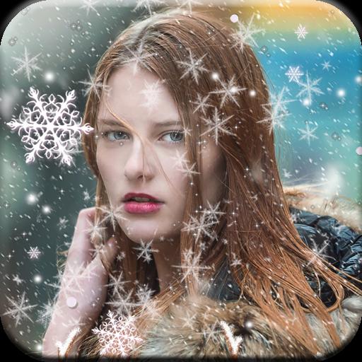 Snowfall Photo Effect Icon