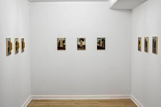 Photo: Los árboles. 2014 Óleo sobre papel y molduras 9 objetos de 31 x 21 cm