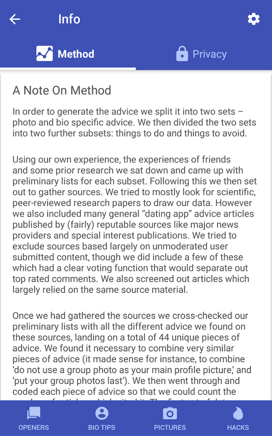 Dating Apps Genius - Using science for matches- screenshot