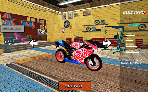 Bike Super Hero Stunt Driver Racing 1.0 screenshots 4