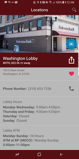 Screenshot for Federation Bank in United States Play Store