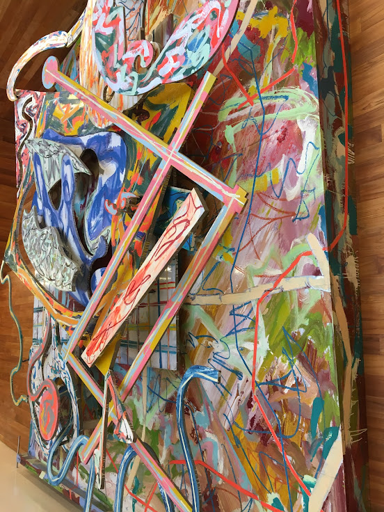 "Part painting, part sculpture.  ""Shards III"" by Frank Stella."