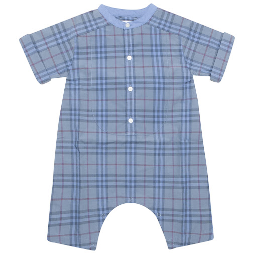 Primary image of Burberry Blue Check Onsie