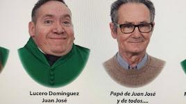 Juan José, junto a su padre, en la orla de su promoción / Todo Orlas