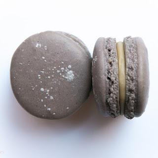 French Licorice Macarons.