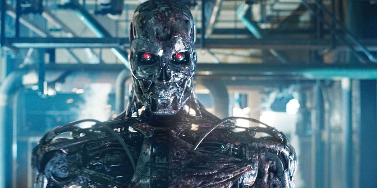 robot with red eyes