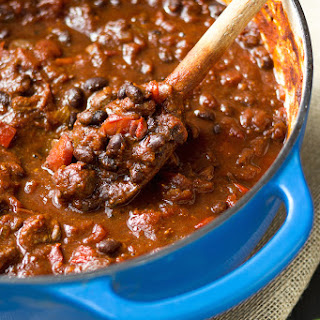 Chunky Lamb and Black Bean Chili