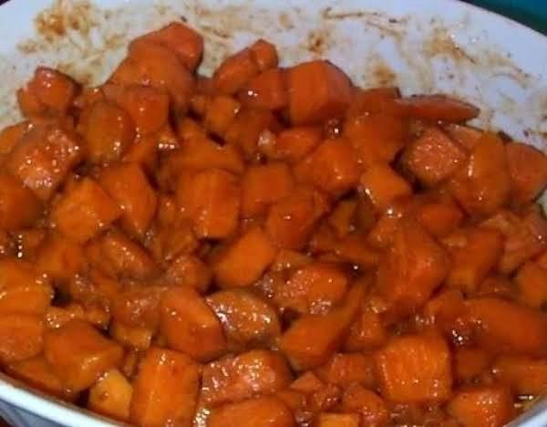 ~ Orange Glazed Sweet Potatoes ~