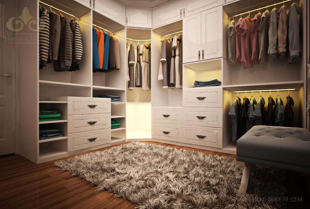 Thiết kế phòng thay đồ có diện tích nhỏ