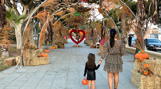 Vícar viste de otoño sus espacios públicos con un llamativo decorado