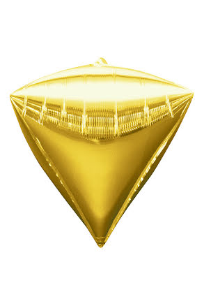Folieballong, diamant guld
