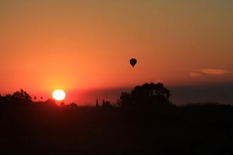 Photo: A hot air balloon over Carmel Valley.
