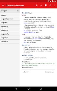 Chambers Thesaurus Screenshot