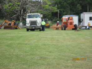 Photo: The contractors are bringing in lots of equipment!