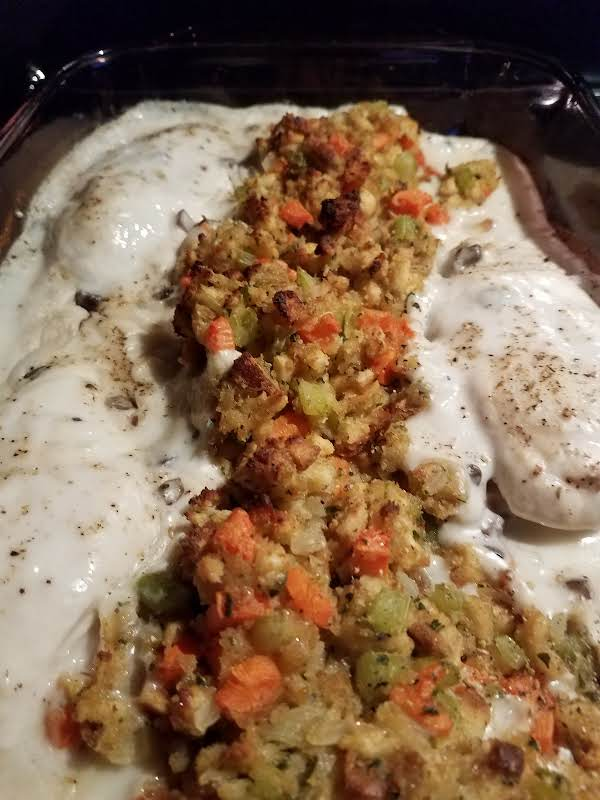 Family Favorite Chicken And Stuffing Bake!