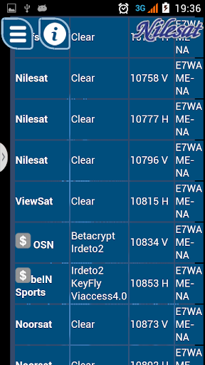 New Frequencies Nilesat 2019 by Net Ab dev (Google Play