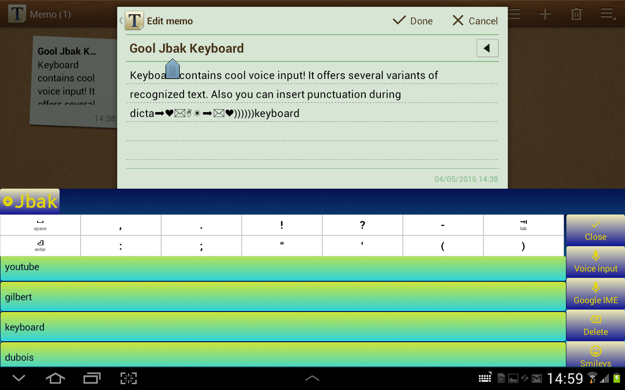 Jbak Keyboard- screenshot