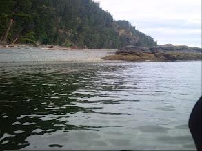 Photo: Approaching my first Texada Island campsite.