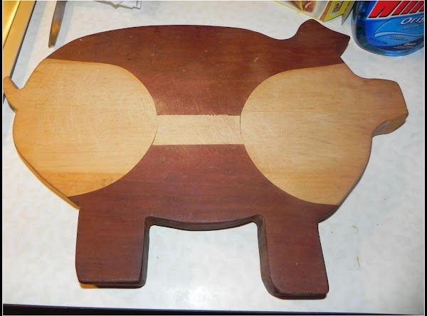This is a cutting board I made in wood shop when I was in...