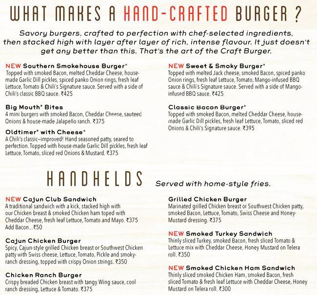 Chili's Grill & Bar menu 4