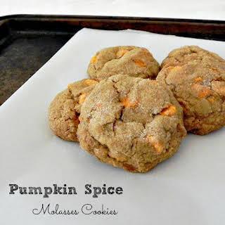 Pumpkin Spice Molasses Cookies.
