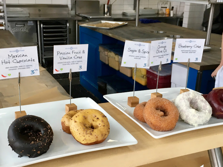 Premium ingredients and flavor profiles at Blue Star Donuts.