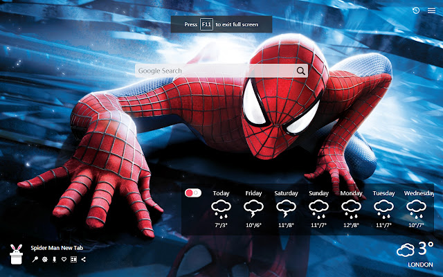 Spider Man New Tab, Wallpapers HD