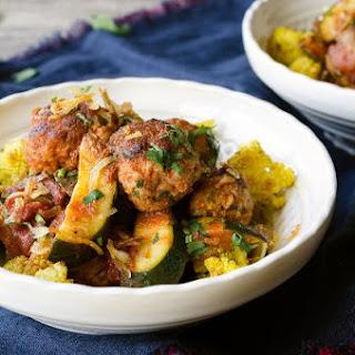Turkey Meatballs With Curried Cauliflower