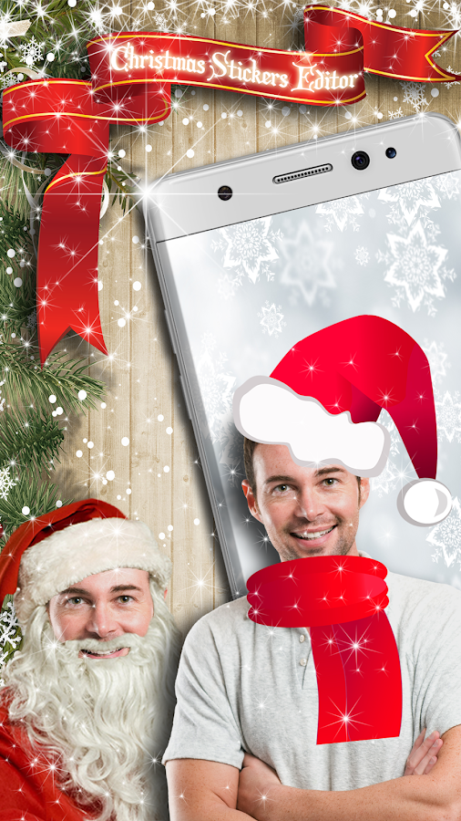 Christmas Photo Sticker Editor- screenshot