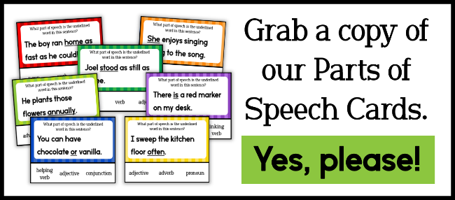 Parts Of Speech Word Sorts - This Reading Mama