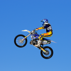 I am Flying........ by Charel Schreuder - Sports & Fitness Motorsports ( flying, ramping, jumping, motocross, motorcycle, ramp, jump )